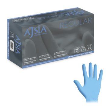 guanti in nitrile blù