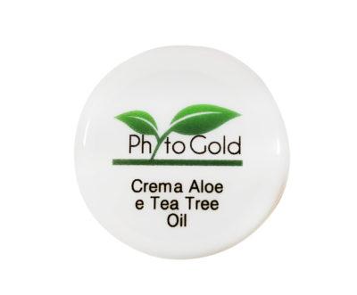 CREMA VISO NATURALE ALL'ALOE E TEA TREE OIL PHYTO GOLD 10 ML